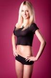 tła blondynki dziewczyny gorące menchie Fotografia Royalty Free