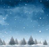 tła bożych narodzeń śnieżna płatków śniegów zima ilustracji