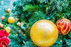 tła bożych narodzeń dekoracj odosobniony drzewny biel Obraz Stock