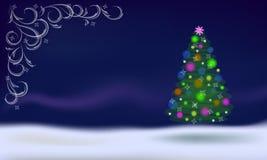 tła bożych narodzeń dekoracj odosobniony drzewny biel Fotografia Royalty Free