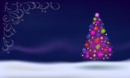 tła bożych narodzeń dekoracj odosobniony drzewny biel Obrazy Royalty Free