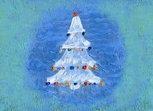 tła bożych narodzeń dekoracj odosobniony drzewny biel 3d amerykanina karty kolorów wybuchu flaga powitania wakacje pisze list oby zdjęcie stock