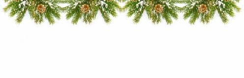 tła bożych narodzeń dekoracje odizolowywali biel Obraz Royalty Free