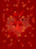 tła bożych narodzeń kierowi ornamentu czerwieni płatek śniegu royalty ilustracja