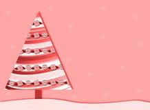 tła bożych narodzeń menchii retro drzewo Zdjęcie Royalty Free