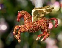 tła bożych narodzeń Pegasus zabawkarski drzewo obraz stock