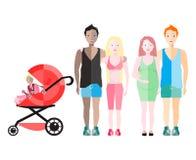 tła bożych narodzeń rodzinny szczęśliwy biel Obrazy Stock
