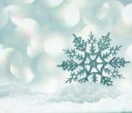 tła bożych narodzeń zamknięty odosobniony płatek śniegu w górę biel Zdjęcie Stock