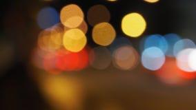 Tła Bokeh plamy samochodów światło Zdjęcia Royalty Free