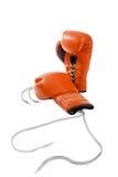 tła bokserskich rękawiczek odosobniony czerwony biel Obrazy Stock