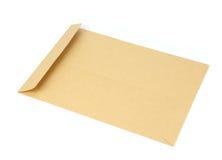tła brąz dokumentu kopertowy biel Zdjęcie Stock