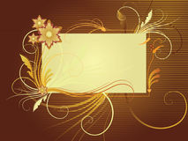 tła brąz kwiatu złoto Fotografia Stock