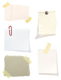 tła brąz notatki stary papier Obraz Stock