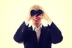 tła brainstorming biznesowy bizneswomanu leek target1104_0_ target1105_0_ wysokiego główkowanie w górę wzroku target1110_0_ biel obrazy royalty free