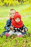 tła brata odosobniony siostrzany biel Fotografia Stock
