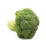tła brokułów świeży odosobniony biel Obrazy Royalty Free