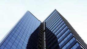 tła budynku czerepu szkła odosobniony biurowy biel centrum biznesu architektonicznej ilustracji temat Obraz Stock