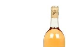 tła butelki odosobniony biały wino Zdjęcia Stock