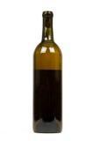tła butelki odosobniony biały wino Zdjęcie Stock
