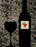 tła butelki szkła menu nowożytny wino ilustracja wektor