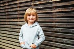 tła chłopiec śliczny odosobniony trochę nad portreta biel Obraz Royalty Free