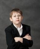 tła chłopiec grey dumny Fotografia Stock