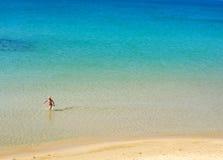 tła chłopiec morze Obraz Royalty Free