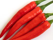 tła chili koloru kontrasta czerwony korzenny biel zdjęcia royalty free