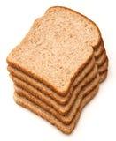 tła chlebowego brąz odosobniony biel Obrazy Royalty Free