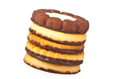 tła ciastek pięć biel Fotografia Stock