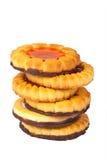 tła ciastek sześć biel Zdjęcie Royalty Free
