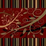 tła ciemna kwiecistego ornamentu czerwień Zdjęcia Stock