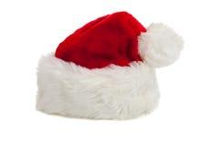 tła Claus kapeluszowy Santa biel obrazy stock