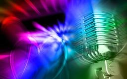 tła colour cyfrowy mikrofon royalty ilustracja