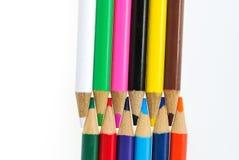 tła colour odosobneni ołówki biały Obrazy Stock