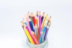 tła colour odosobneni ołówki biały Obraz Stock