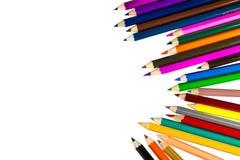 tła colour odosobneni ołówki biały zdjęcia royalty free