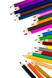 tła colour odosobneni ołówki biały fotografia royalty free