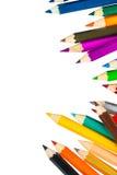 tła colour odosobneni ołówki biały zdjęcie stock