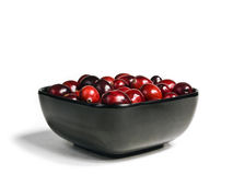 tła cranberries świeży odosobniony biel Zdjęcia Royalty Free