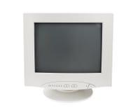 tła crt pokaz odizolowywający monitoru stary biel fotografia stock