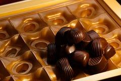 tła cukierku czekoladowego nacięcia odosobniony biel Obraz Stock