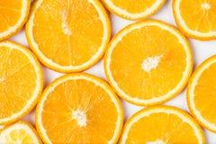 tła cytrusa owoc ilustracyjni pomarańczowi plasterki vector biel obrazy stock