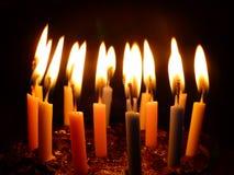 tła czarny świeczki płomień pojedynczy Obrazy Royalty Free