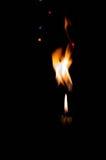 tła czarny świeczki płomień pojedynczy Zdjęcie Stock