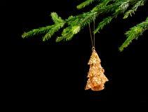 tła czarny bożych narodzeń dekoraci drzewo Obrazy Royalty Free