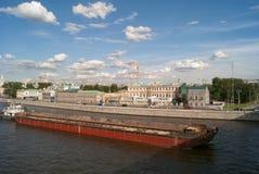 tła czarny ikon linie świecąca setu transportu wektoru woda Rzecznej łodzi holowniczy przebojowiec w kanałach Moskwa rzeka przeci Zdjęcia Stock