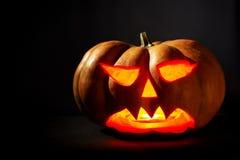 tła czarny jaskrawy oczu Halloween inside światła usta nosa bani kolor żółty Zdjęcie Royalty Free