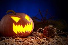 tła czarny jaskrawy oczu Halloween inside światła usta nosa bani kolor żółty Obrazy Royalty Free