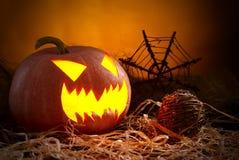 tła czarny jaskrawy oczu Halloween inside światła usta nosa bani kolor żółty Zdjęcia Stock
